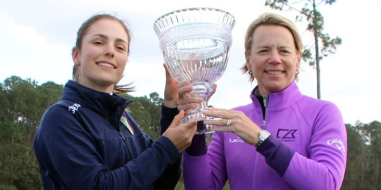 Benedetta Moresco with Annika Sorenstam (ANNIKA photo)