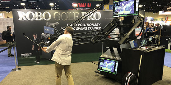 There were a lot of interesting contraptions on the floor of the PGA Show