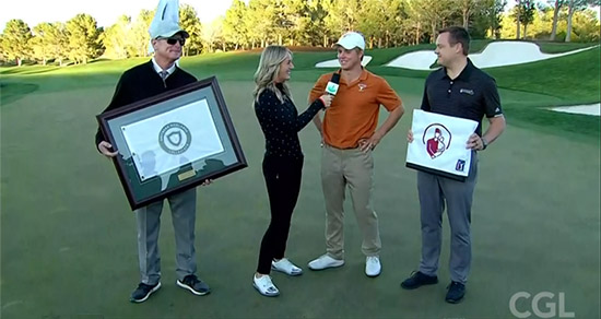 Parker Coody after his big playoff win (College Golf Live screenshot)
