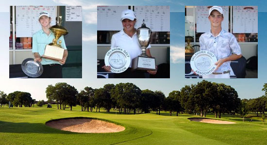 L-R: James Roller, Emily Miller, Ryder Cowan (Oklahoma Golf Association photos)