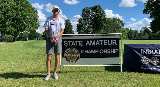 Noah Gillard following the 120th Indiana Am (Noah Gillard photo)