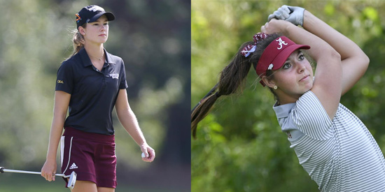 Blair Stockett (L) & Caroline Curtis finished qualifying at 4 under
