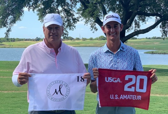 Albert Huddleston with 2020 Southern Am champ McClure Meissner