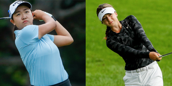 Rose Zhang (L) & Gabriela Ruffels face off for the 120th U.S. Women's Amateur Championship