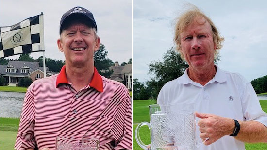 Senior champ Jonathan Valuck (left) and Super-Senior winner John Fritz