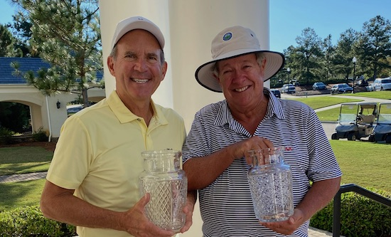 Champion Chip Lutz (left) and runner-up Paul Simson