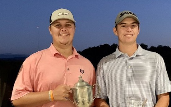 Holston Hills Co-Champs Jake Mynatt (left) and Cooper Collins