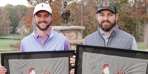 Jordan Sease (L) and Kyle Bearden (Chanticleer Invitational photo)