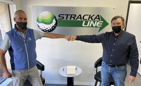 AG CEO Pete Wlodkowski (left) with Strackaline founder Jim Stracka