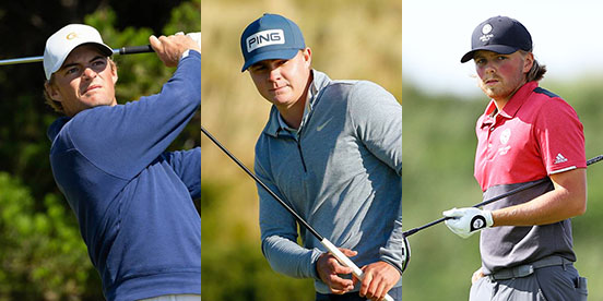 Tyler Strafaci, Ollie Osborne, Joe Long (USGA, R&A photos)