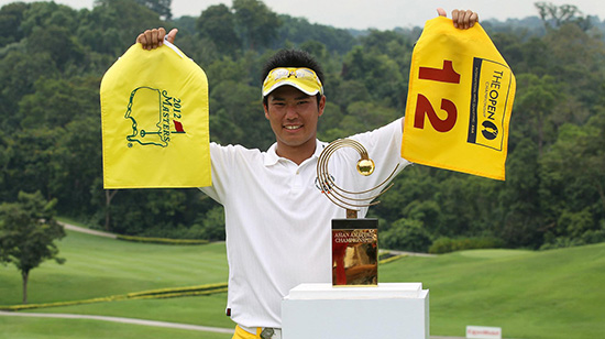 Hideki Matsuyama twice won the Asian Amateur championship (AAC photo)