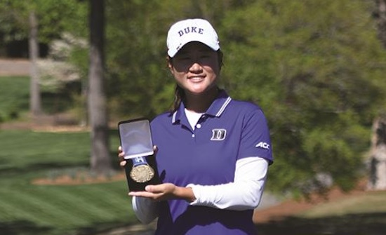 Medalist Gina Kim (Duke University photo)